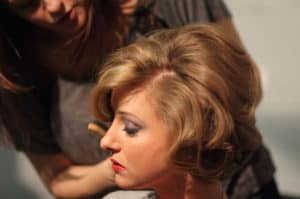 vintage hairstyle for photoshoot