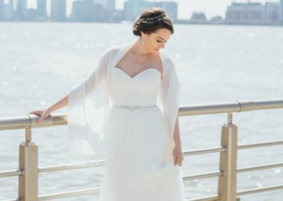 updo for bride in NYC at chelsea piers