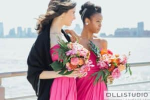 bridesmaid hairstyle for the Big Fake Wedding at Chelsea Piers in NYC