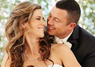 up close hair and makeup wedding photo