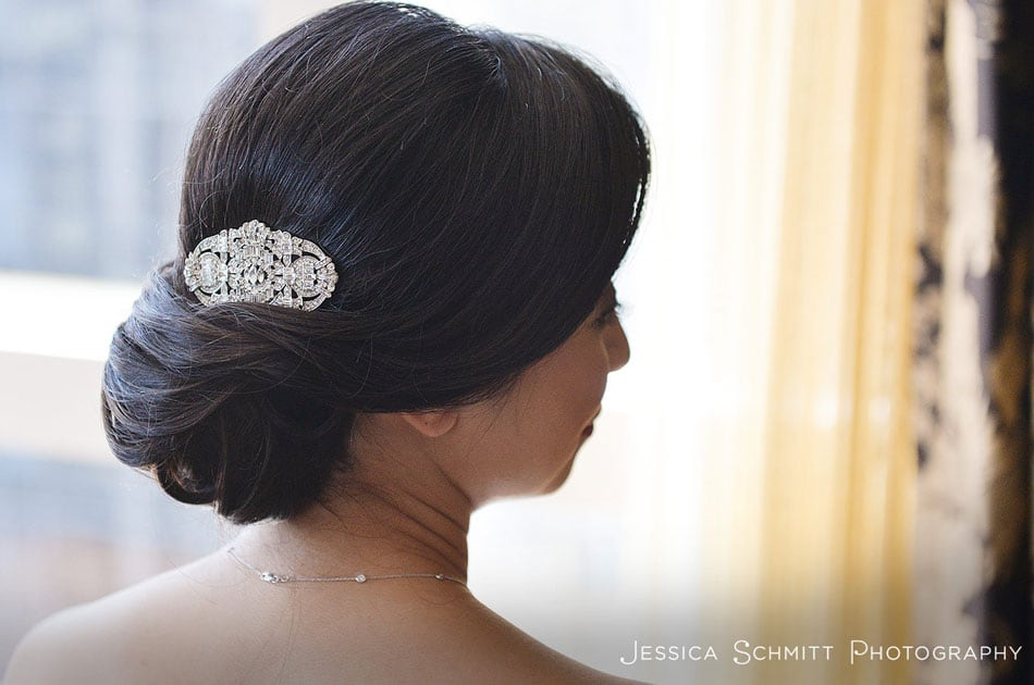 class bridal updo at the mandarin oriental NYC