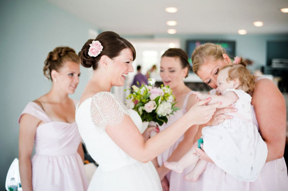 bridal party hairstyles during getting ready photos in Long Island