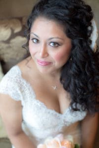 Curly Wedding Hair on Bride at Giorgio's Baiting Hollow Long Island NY