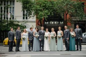 Bridesmaid hairstyles for NYC wedding photos