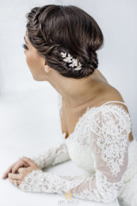 short wedding hairstyle for NYC wedding