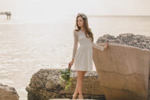 bridal hair and makeup on location at St Petersburgs Fort De Soto Beach